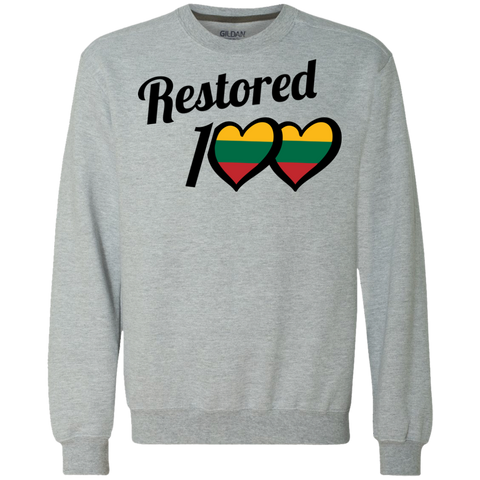 Restored 100 (Love) -- Vyrams/Moterims Heavyweight Sweatshirt