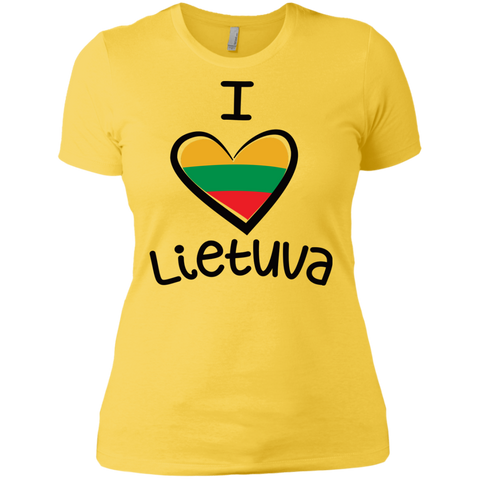 I Love Lietuva -- Gals Next Level Boyfriend Tee