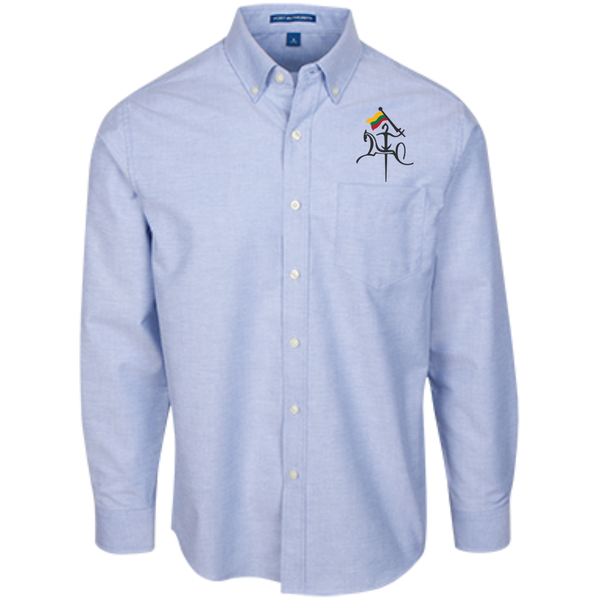 Vytis w/ Flag -- Guys Long Sleeve Oxford