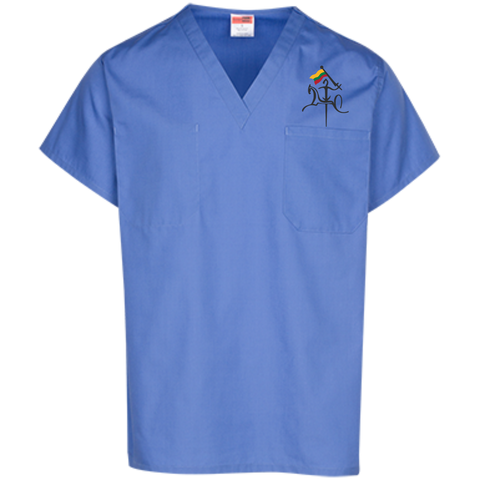 Vytis w/ Flag -- Guys/Gals Scrubs Top