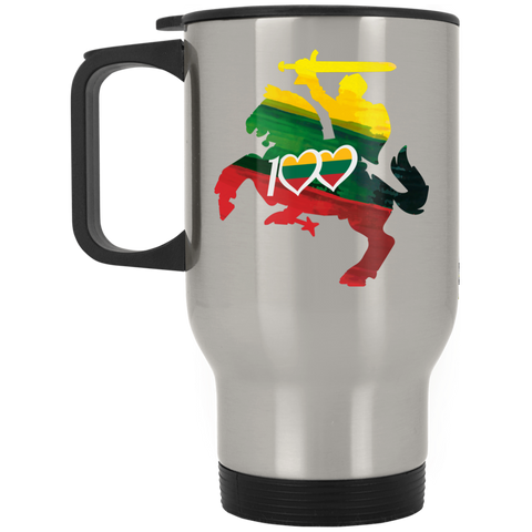 Restored 100 (Knight) -- Suvenyrai Stainless Steel Travel Mug
