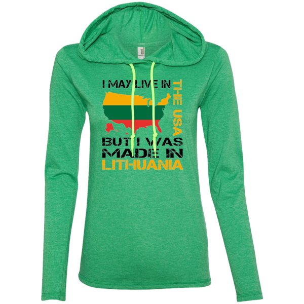 Made in Lithuania -- Gals Long Sleeve Hoodie T