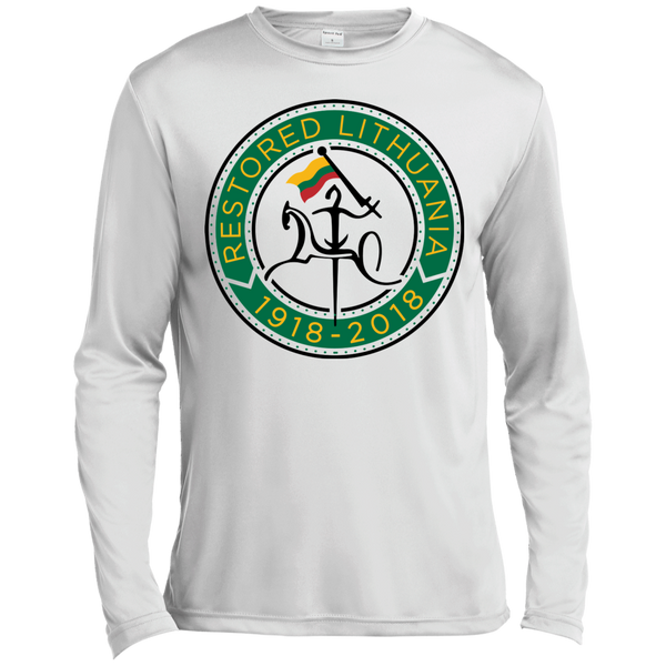 Restored 100 (Vytis Green Circle) -- Vyrams Moisture Absorbing Long Sleeve