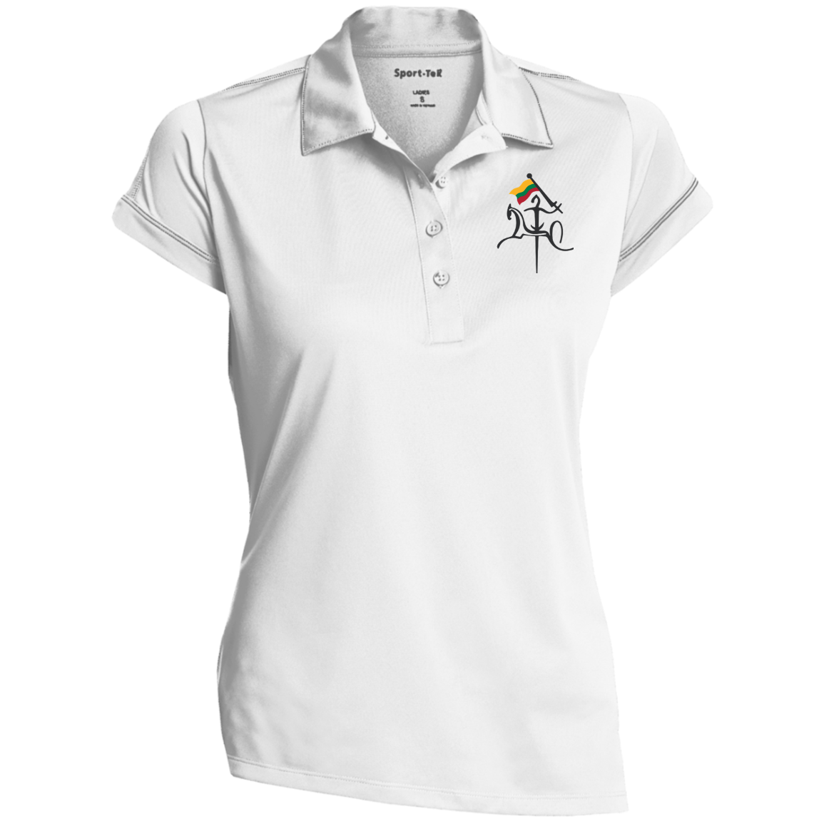 Vytis w/ Flag -- Gals Contrast Stitch Performance Polo