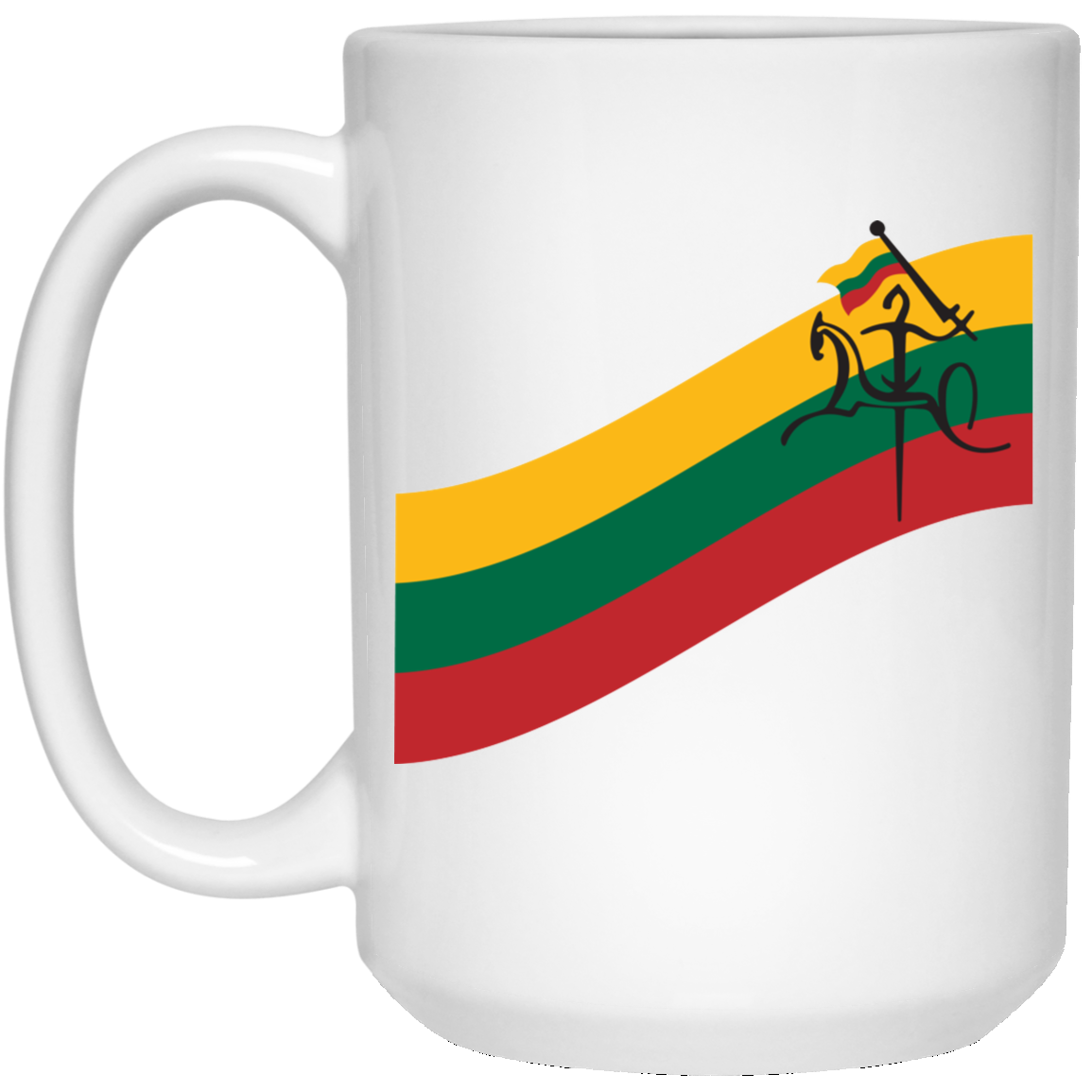 Vytis Flag Banner - Lithuania Strong Collection 15 oz. White Mug