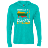 Made in Lithuania -- Guys/Gals Long Sleeve Hoodie T-Shirt