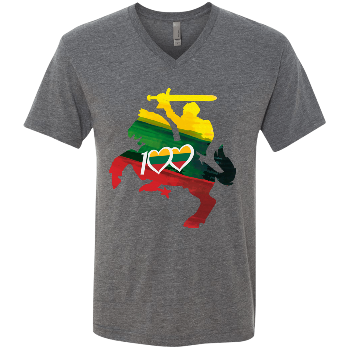 Restored 100 (Knight) -- Vyrams Premium V-Neck T-Shirt