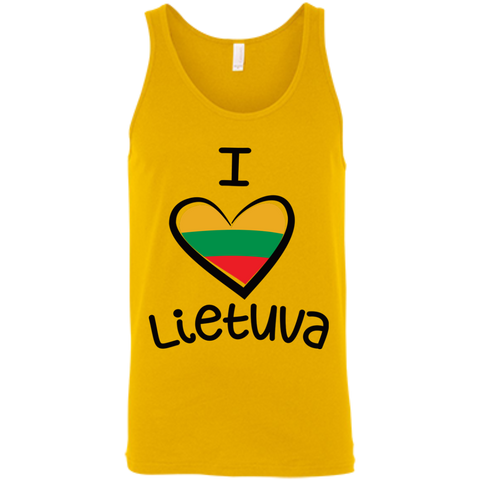 I Love Lietuva -- Guys/Gals Bella+Canvas Tank Top