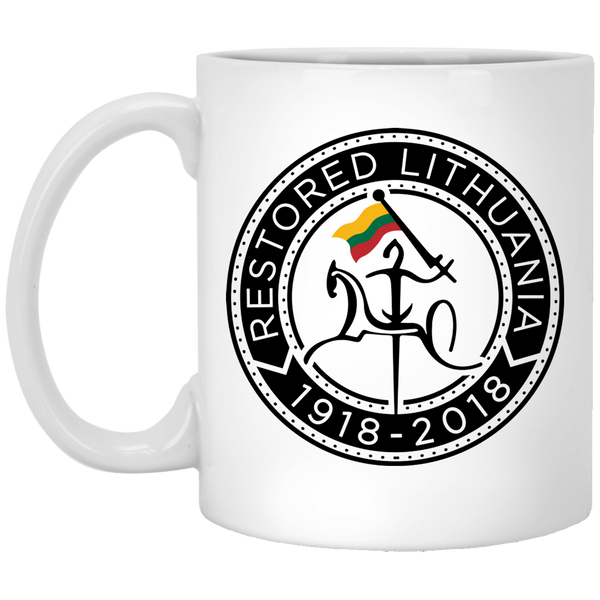 Restored 1918-2018 - Lithuania Strong Collection 11 oz. White Mug