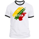 Lietuva BB -- Guys Ringer T-Shirt