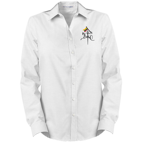 Vytis w/ Flag -- Gals Long Sleeve Oxford Button-Down