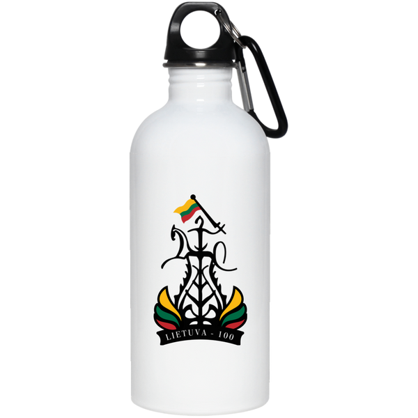 Restored 100 (Lietuva 100) -- Suvenyrai Stainless Steel Water Bottle