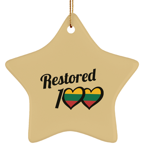Restored 100 Ornament - Ceramic Star Ornament