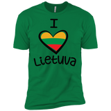 I Love Lietuva -- Guys Next Level Premium T-Shirt