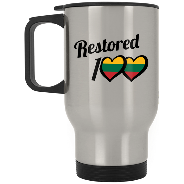 Restored 100 (100 Love) -- Suvenyrai Stainless Steel Travel Mug