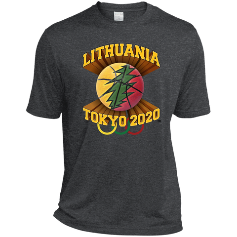 Lithuania Basketball Tokyo 2020 - Guys Tall Dri-Fit Moisture-Wicking T-Shirt