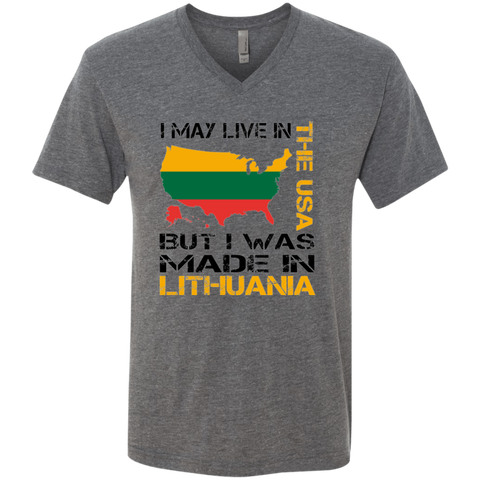Made in Lithuania -- Guys Premium V-Neck T-Shirt