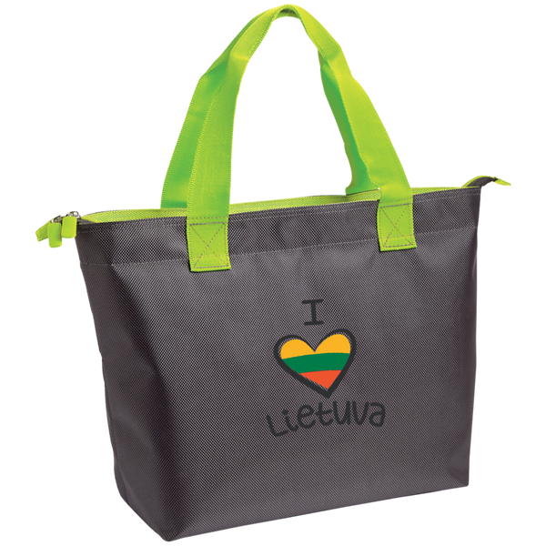 I Love Lietuva -- Zippered Tote