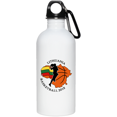 Lithuania Basketball 2018 -- Stainless Steel Water Bottle