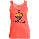 I Love Lietuva -- Gals Scoop Neck Tank