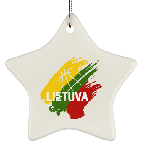 Lietuva Ornament - Ceramic Star Ornament