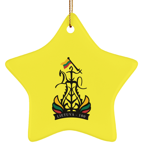 Lietuva 100 Ornament - Ceramic Star Ornament