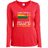 Made in Lithuania -- Gals Long Sleeve Performance V-Neck