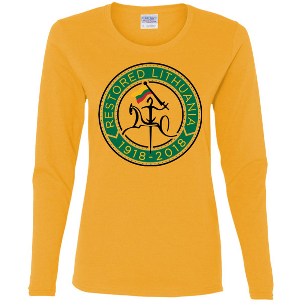 Restored 100 (Vytis Green Circle) --  Moterims Long Sleeve Tee