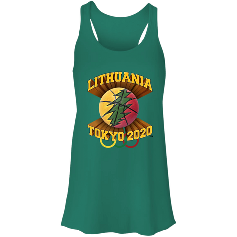 Lithuania Basketball Tokyo 2020 - Gals Flowy Racerback Tank