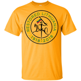 Restored 100 (Vytis Yellow Circle) -- Jaunimas T-Shirt