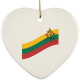 Vytis Ornament - Ceramic Heart Ornament