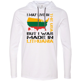 Made in Lithuania -- Guys Long Sleeve Hoodie T-Shirt