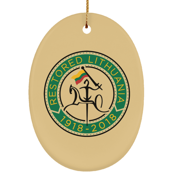 Restored 1918-2018 Ornament - Ceramic Oval Ornament