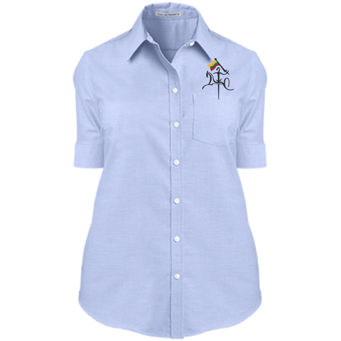 Vytis w/ Flag -- Gals Short Sleeve Oxford