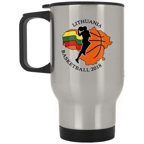 Lithuania Basketball 2018 -- Stainless Steel Travel Mug