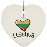 Lithuania Strong Ornament - Ceramic Heart Ornament