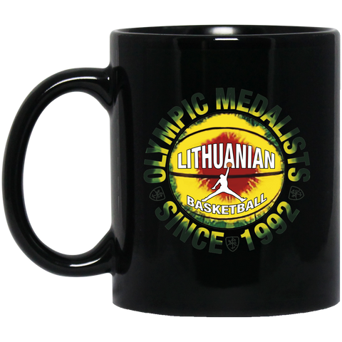 Olympic Medal Winners - Lithuania Strong Collection 11 oz. Black Mug