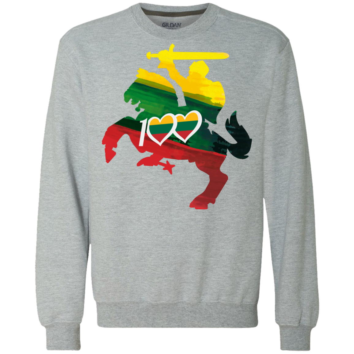 Restored 100 (Knight) -- Vyrams/Moterims Heavyweight Sweatshirt