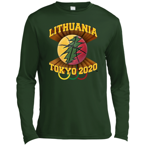 Lithuania Basketball Tokyo 2020 -- Guys Long Sleeve Moisture Absorbing