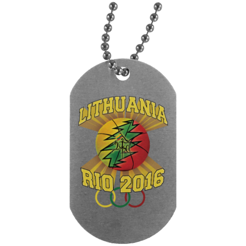 Rio Olympic Basketball -- Silver Dog Tag