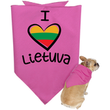 I Love Lietuva -- Pet Bandana