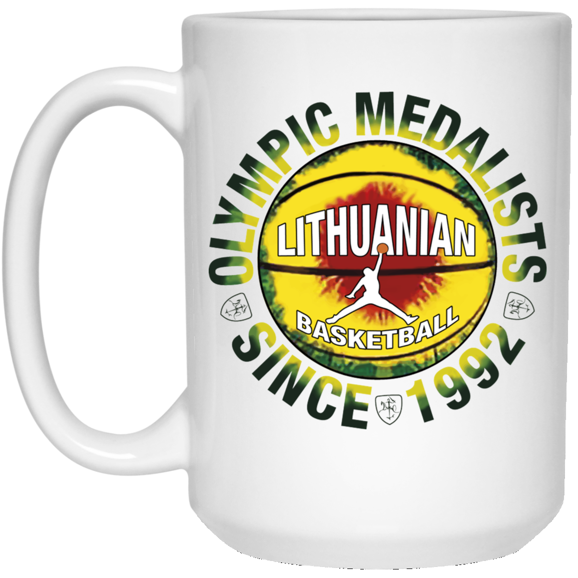 Olympic Medal Winners - Lithuania Strong Collection 15 oz. White Mug