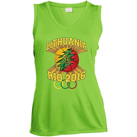 Rio Olympic Basketball -- Gals Performance Sleeveless V-Neck
