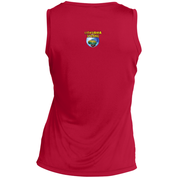 I Love Lietuva -- Gals Performance Sleeveless V-Neck