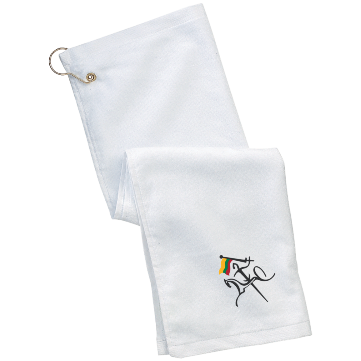Vytis w/ Flag -- Grommeted Golf Towel