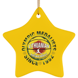 Olympic Medalist Ornament - Ceramic Star Ornament