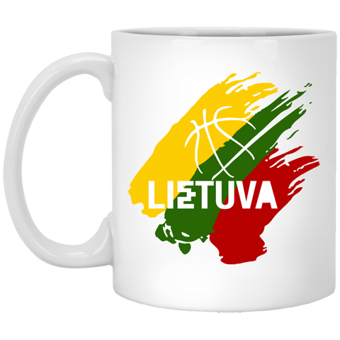 Lietuva Basketball - Lithuania Strong Collection 11 oz. White Mug
