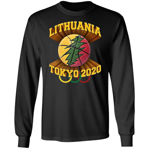 Lithuania Basketball Tokyo 2020 -- Guys Long Sleeve T-Shirt