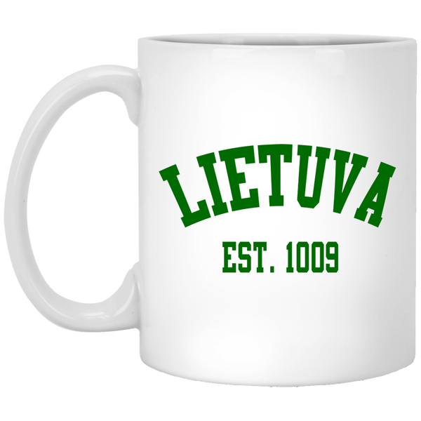 Lietuva Est 1009 - Lithuania Strong Collection 11 oz. White Mug