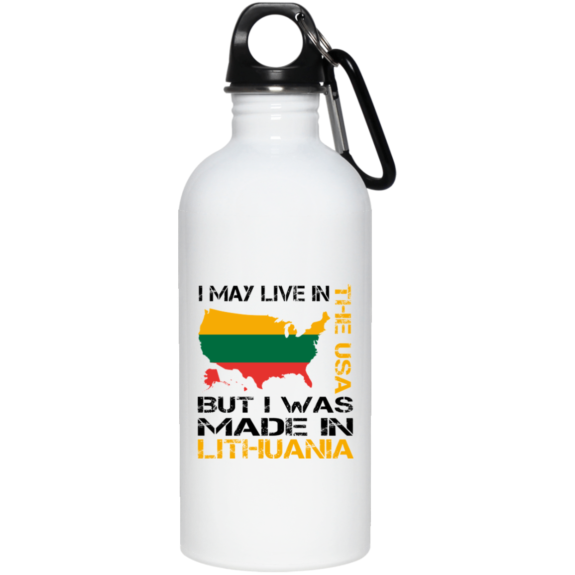 Made in Lithuania -- Stainless Steel Water Bottle